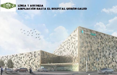 Prolongación de línea 7 al nuevo hospital Quirón-Salud