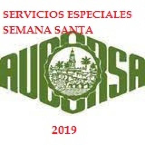 Servicios Especiales de Aucorsa en Semana Santa 2019