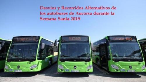 Desvíos y Recorridos Alternativos por Semana Santa 2019 de los autobuses urbanos de Aucorsa